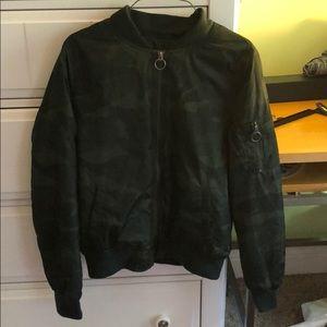 Green Camo Bomber Jacket
